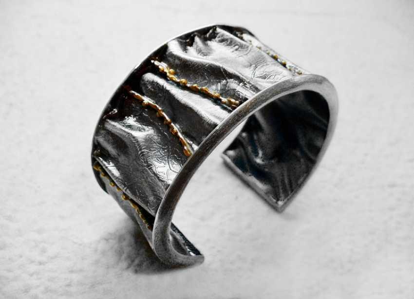 Roman Volkov. Silver bracelet with gold plating - photo 1
