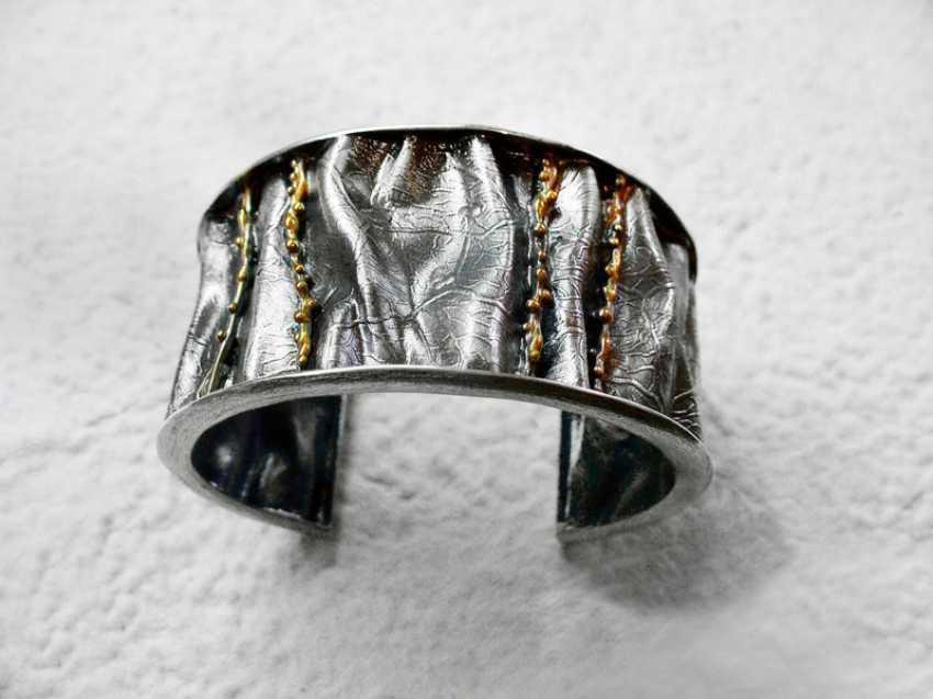 Roman Volkov. Silver bracelet with gold plating - photo 3