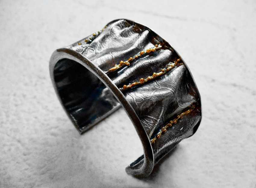 Roman Volkov. Silver bracelet with gold plating - photo 4