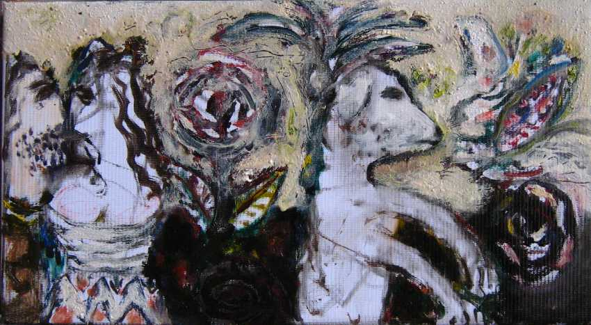 victor gutsu. lovers, flowers and a dog. - photo 1