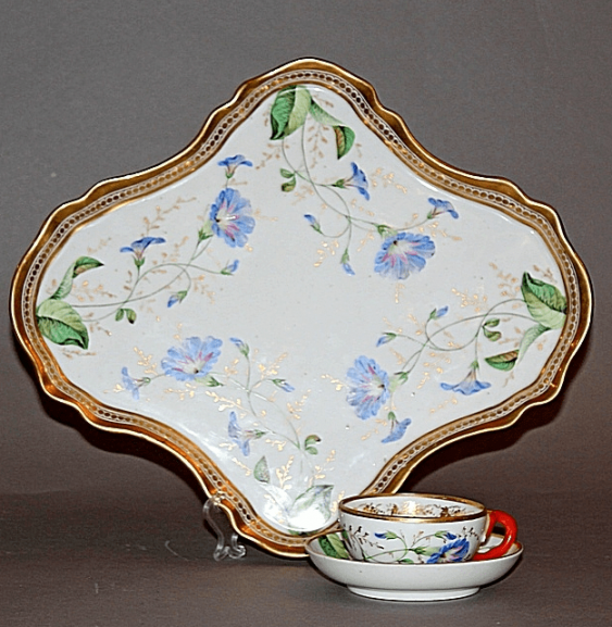 Tray and Cup made of porcelain.the factory of the Kornilov brothers - photo 1