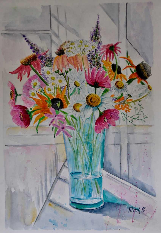 Maryna Pashchenko. Field bouquet in a vase. - photo 1