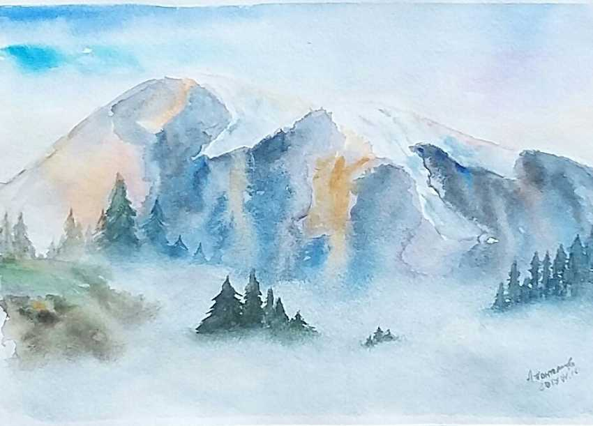 "Anastasia Beytuzun. Watercolor "" The Fog "" - photo 1"