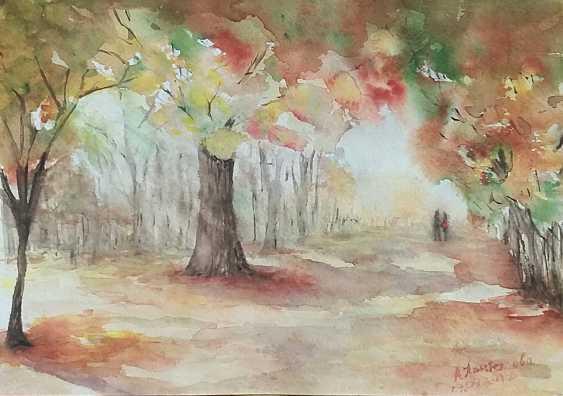 """Anastasia Beytuzun. Watercolor """" Autumn """" - photo 1"""