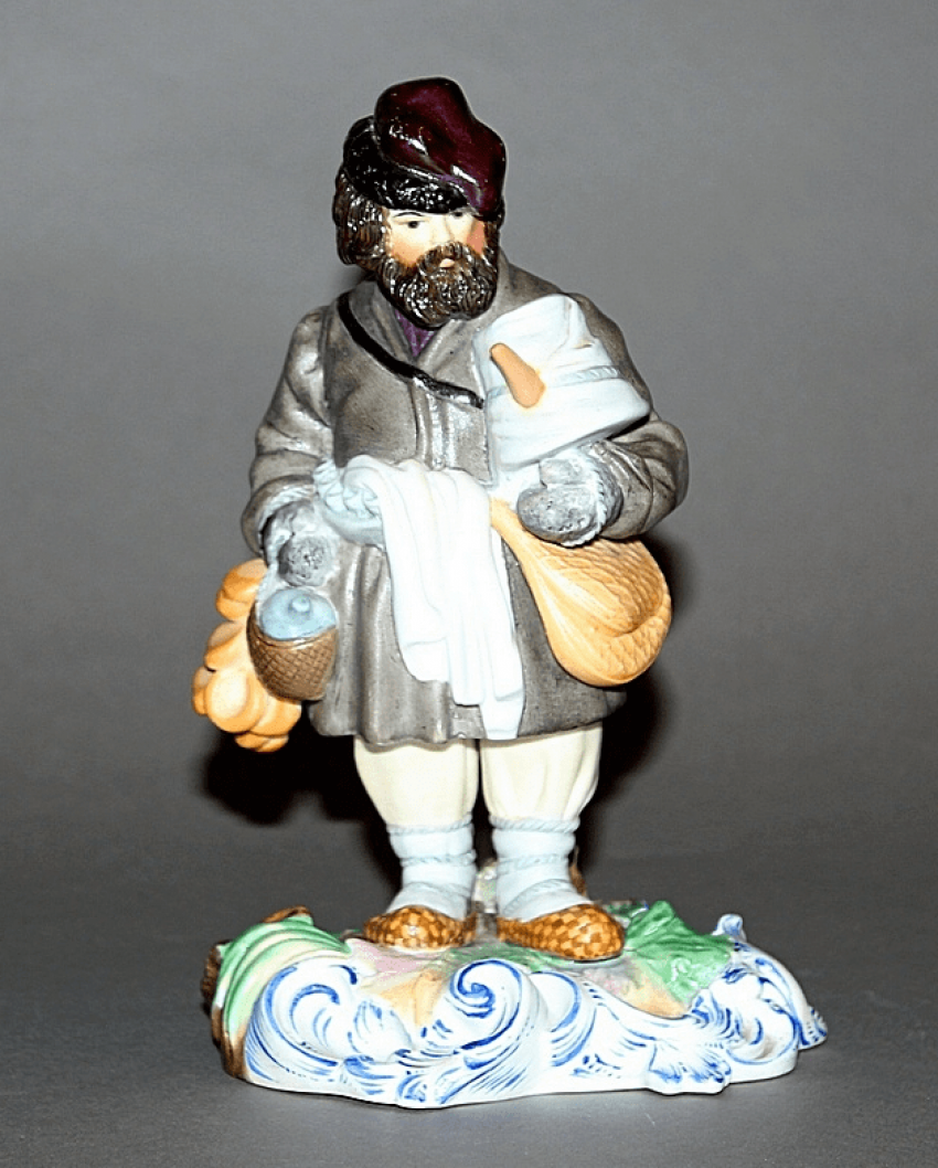 "Figurine ""the Seller of sbiten, the Gardner factory - photo 1"