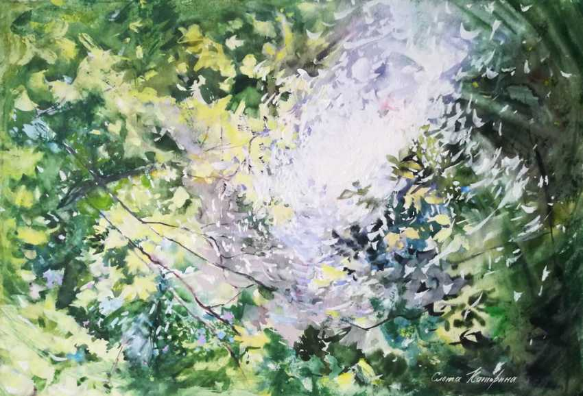 Ekaterina Slota. Playing the sun with foliage - photo 1