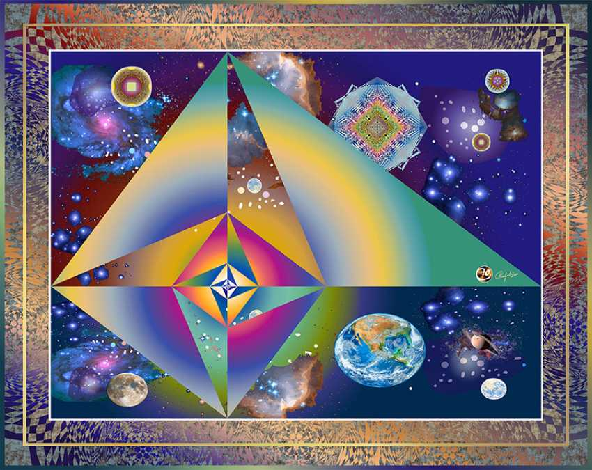 Yuriy Safonov. Triangles (3,4,5) cosmic pyramid in a spiral - photo 1