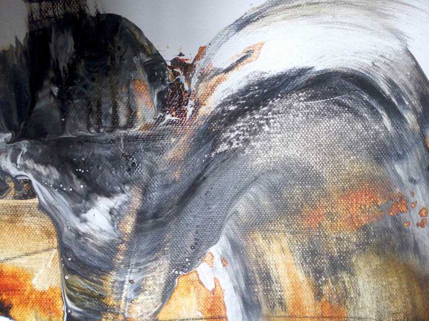 Матковский Дмитрий. Siberian Winter - No mosquitoes, original Abstract - Сибирская Зима - Нет комаров, Абстракция оригинал - фото 2