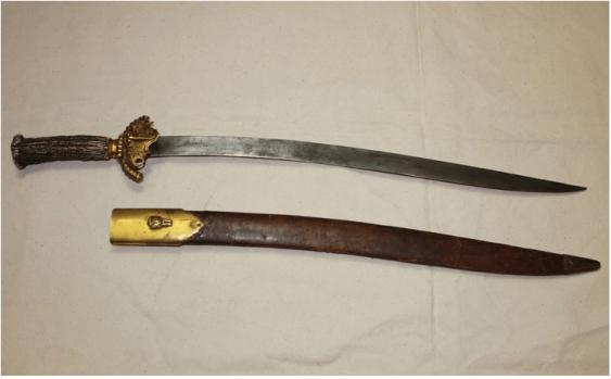 Hunting sword SCIMITAR England(India) - 19th century. - photo 1