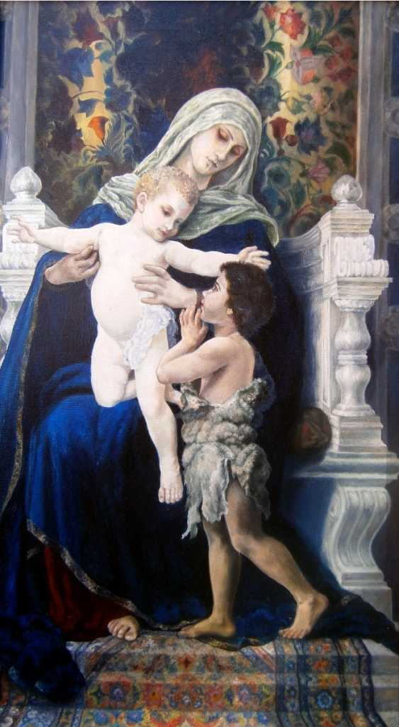 Natalia Samsonova. The virgin with the infant Christ and St. John The Baptist - photo 1