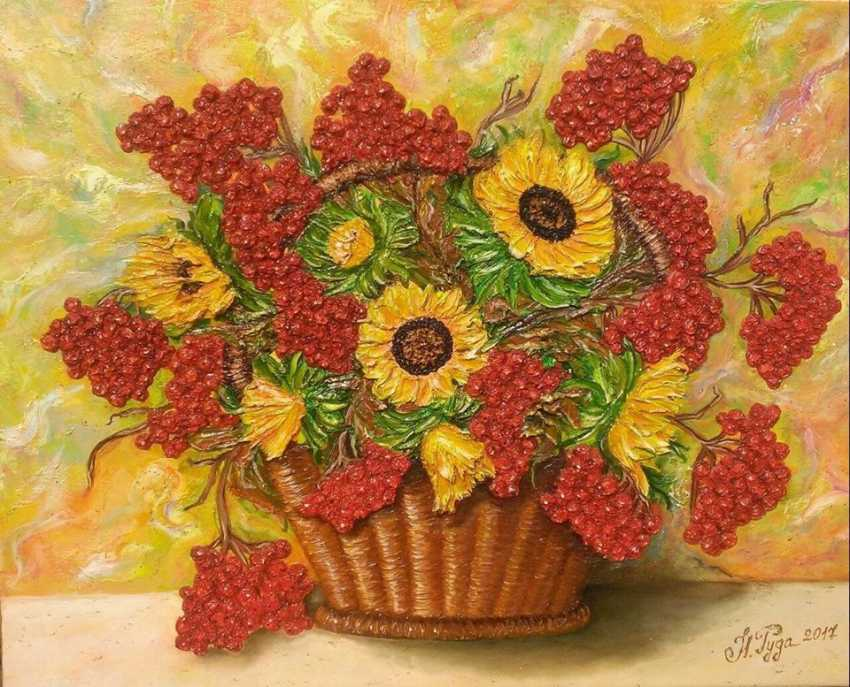 Ruda NATALIIA. Sunflowers with Kalina - photo 1