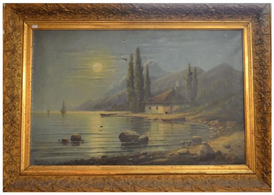 """La peinture """"la baie Calme""""la Russie début XXE siècle - photo 1"""