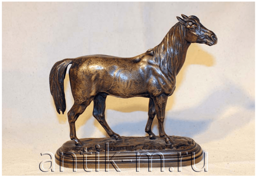 "The Sculpture ""Mustang"". Bronze. France,XIX century - photo 1"