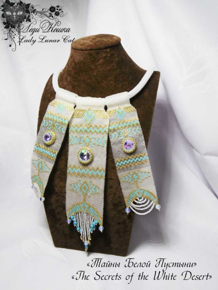 """Irina Shapoval. Jewelry set earrings and necklace """"Secrets of the White desert"""" - photo 2"""