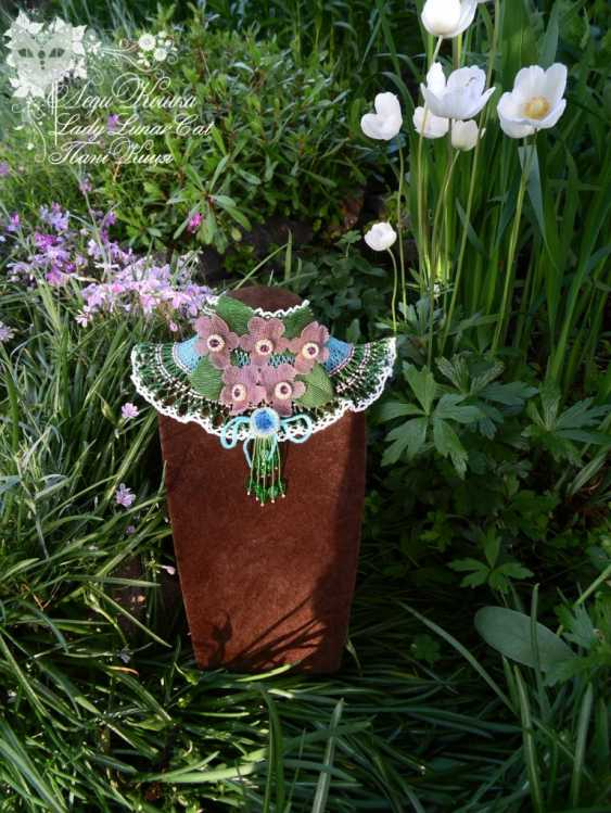 "Irina Shapoval. Necklace ""Bouquet of violets"" - photo 4"