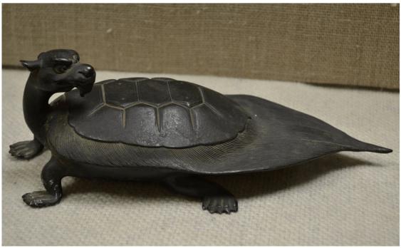 Dragon turtle bronze Japan of the XIX century. - photo 1