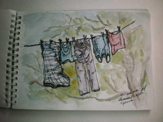 """Tatyana Kazimir. The sketch """"Big wash"""" - photo 1"""