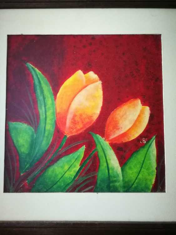 Cristina Santander. Yellow Tulips - photo 1