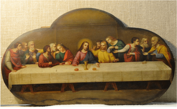 """Icon """"the last supper tree"""" beg. of XX century. - photo 1"""