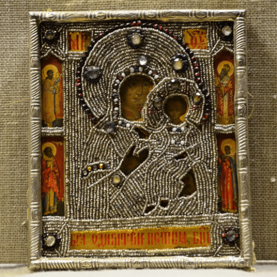 The icon of the mother of God silver, early XIX century - photo 1