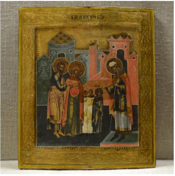 Icon gilding R-R 26,5/31,5 cm nineteenth century - photo 1