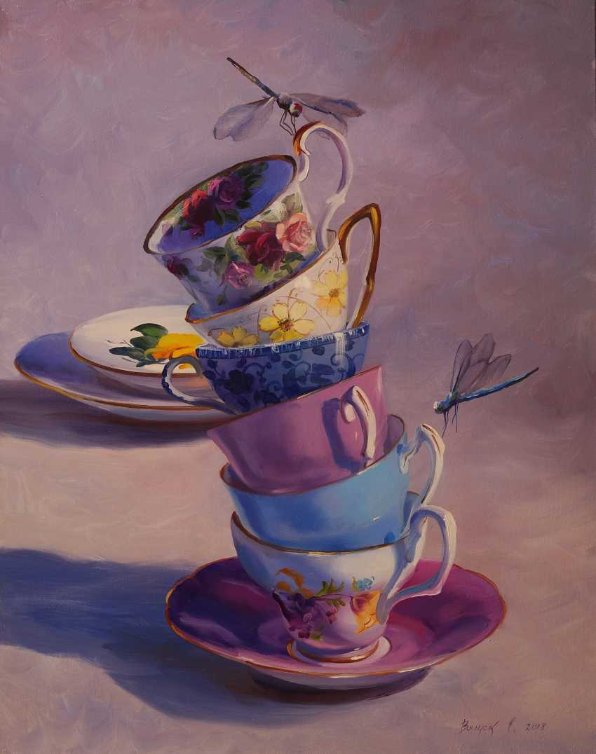 "Lena Vylusk. ""Cups and dragonflies"" - photo 1"