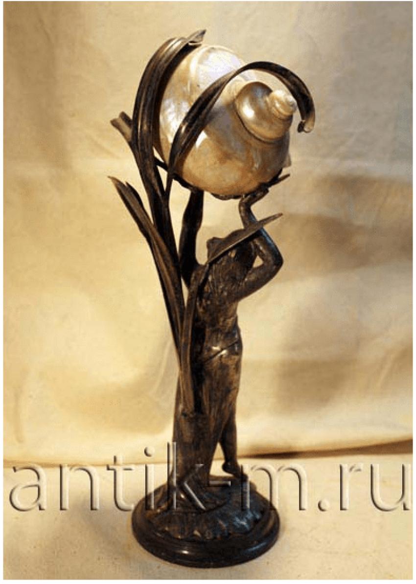 "Table lamp. Europe of the XIX century ""Modern"" - photo 2"