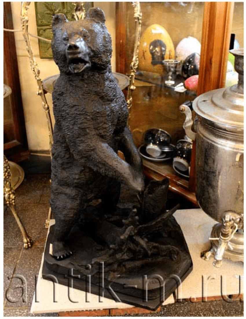 """The Sculpture """"Bear"""". Cast Iron,Cass.Head., 1940 - photo 1"""