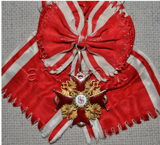 The Order Of St. Stanislaus 1 St Gold, enamel - photo 2