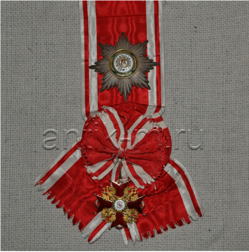 The Order Of St. Stanislaus 1 St Gold, enamel - photo 1