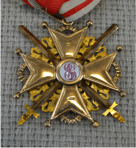 The Order Of St. Machachi Stanislaus, 2nd class, 56 gold St. - photo 3