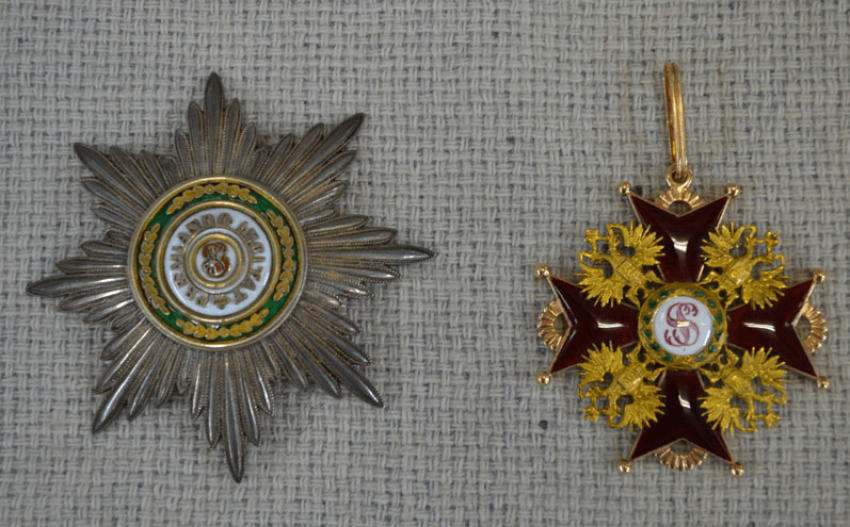 The Order Of St. Stanislaus 1-th degree , 56 gold PR - photo 1