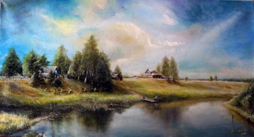 Boris Merkulov. at the pond / by the pond / - photo 1