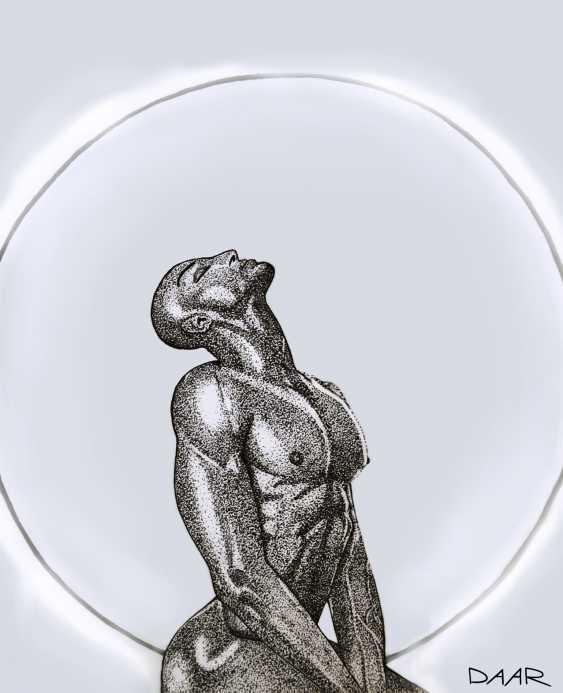 Maria Daar. MAN IN THE SUN. Graphics. Maria Daar - photo 1