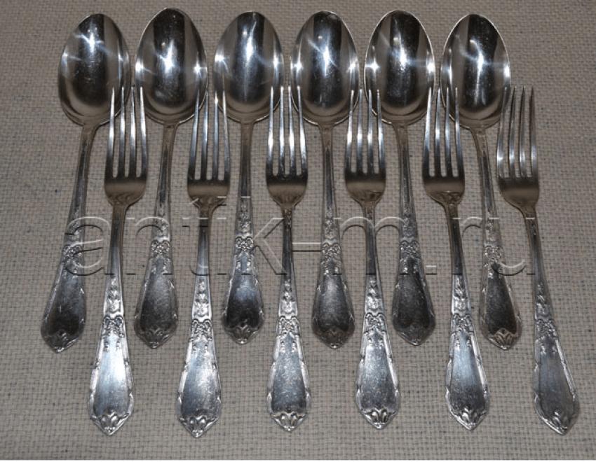 A set of silverware Russia,Silver 84 - photo 2
