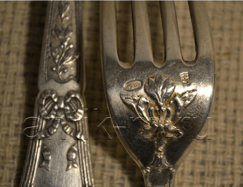 A set of silverware Russia,Silver 84 - photo 3