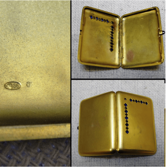 Cigarette case, gold 56 sample - photo 2
