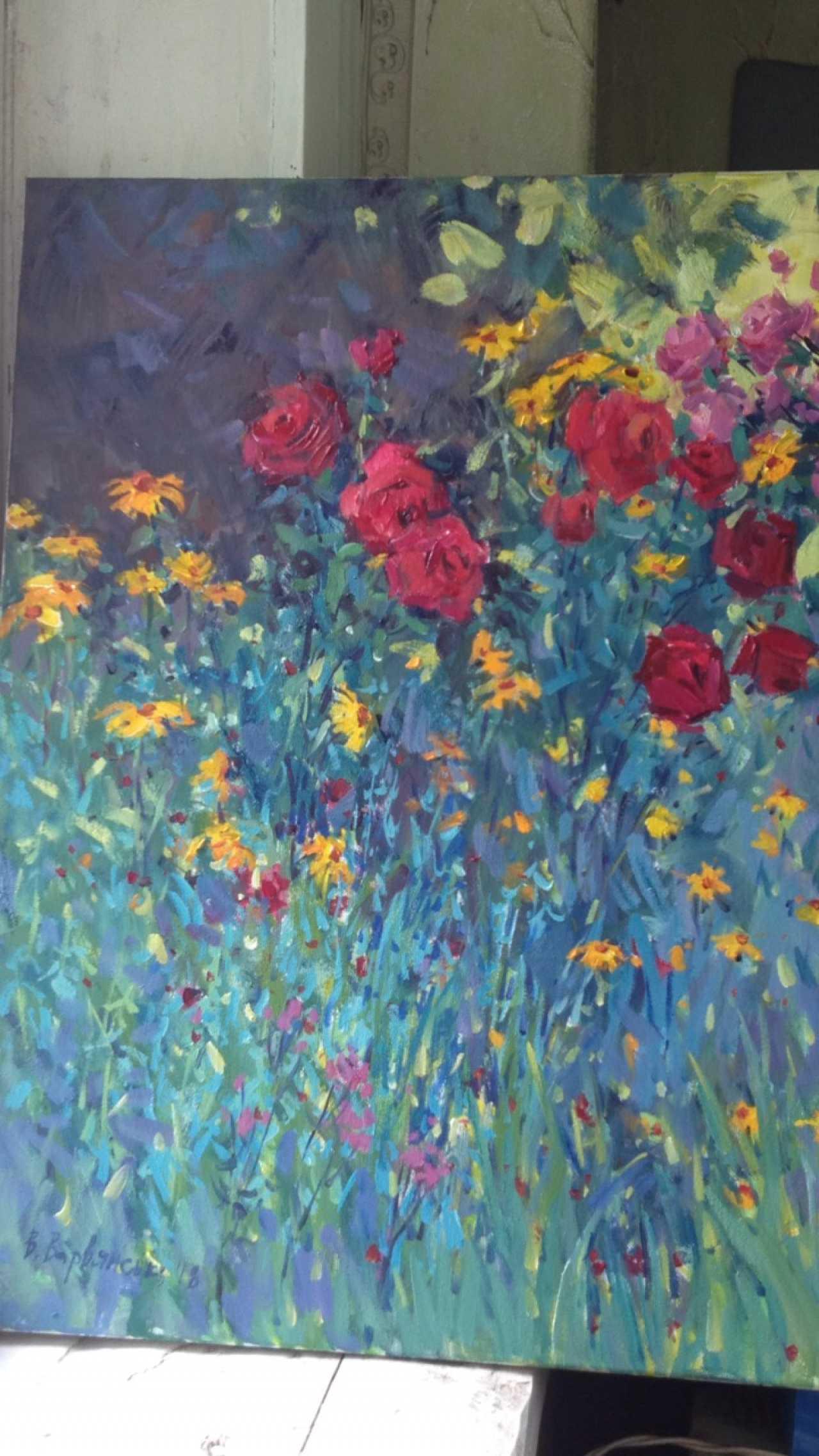 Image De Parterre De Fleurs vira varvianska. mamina un parterre de fleurs