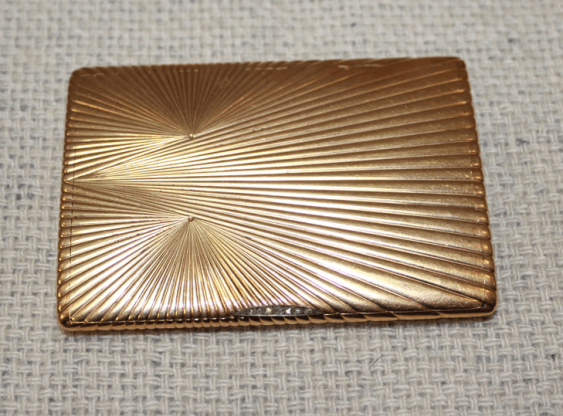 "Cigarette case gold 56 PR insert diamonds ""Rose"" - photo 1"