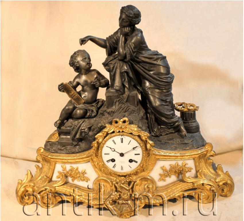 Mantel clock. Bronze France XIX century - photo 1