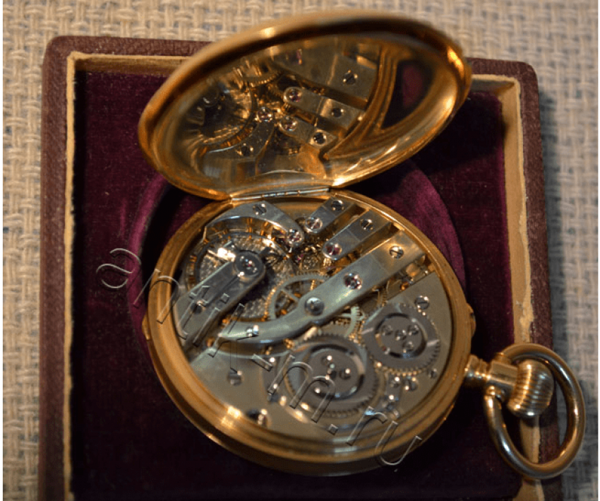 "Pocket watch ""G. Mozer's"" gold 56 samples - photo 1"