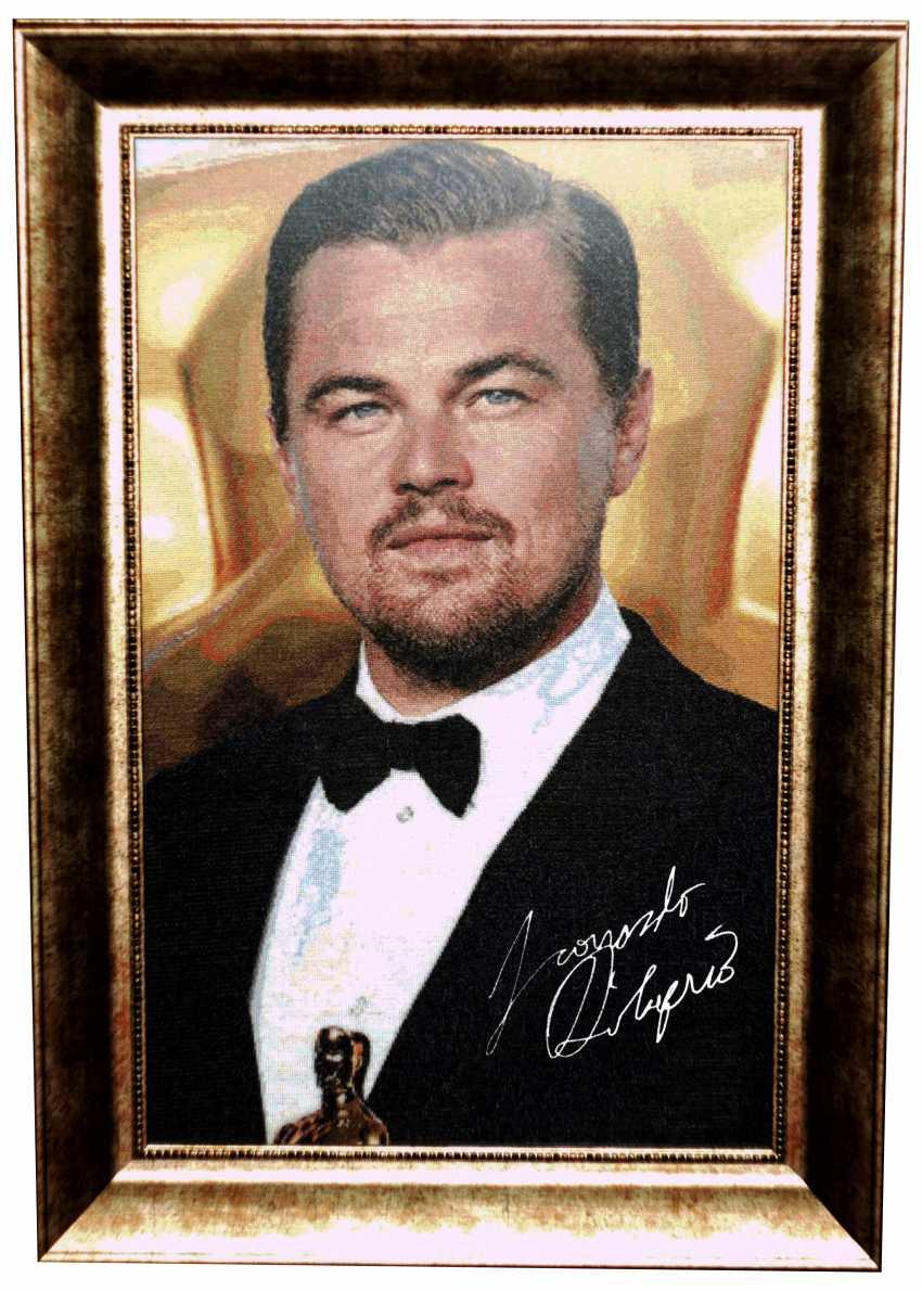 Dina Baidildina. Leonardo DiCaprio. Embroidery - photo 1