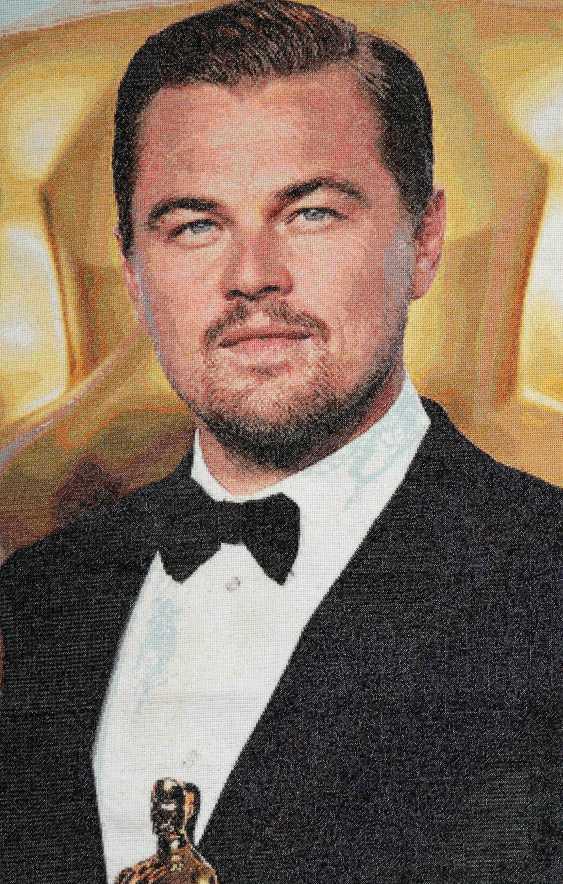 Dina Baidildina. Leonardo DiCaprio. Embroidery - photo 2