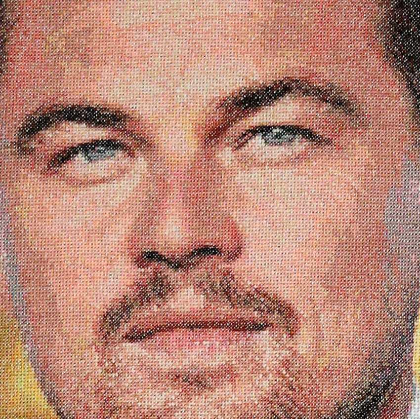 Dina Baidildina. Leonardo DiCaprio. Embroidery - photo 3