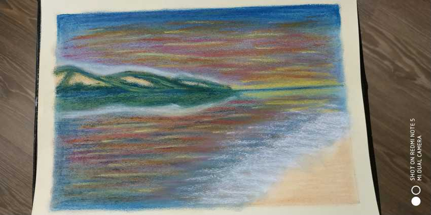 "Nina Zimina. ""Sunset at sea"" - photo 1"