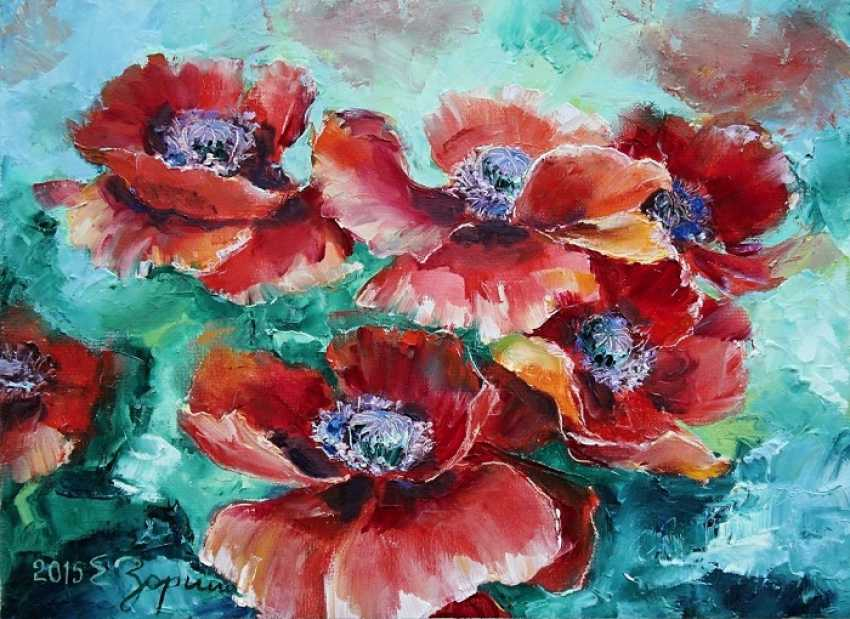Elena Zorina. Red poppies - photo 1