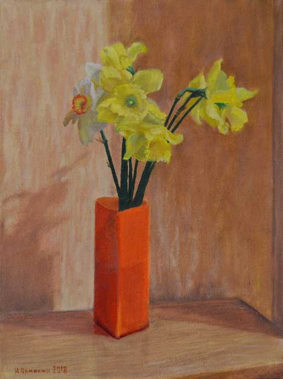 Ivan Ormanzhi. Original still life painting oil on canvas, Daffodils - photo 1
