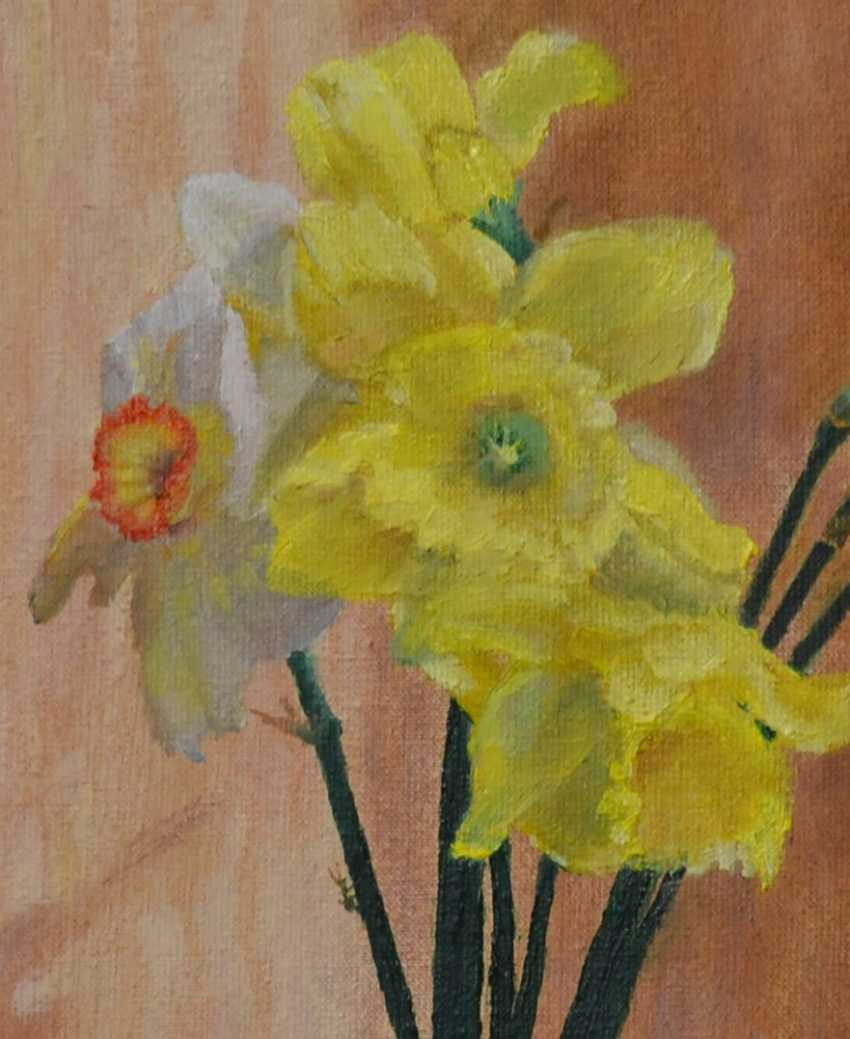 Ivan Ormanzhi. Original still life painting oil on canvas, Daffodils - photo 2