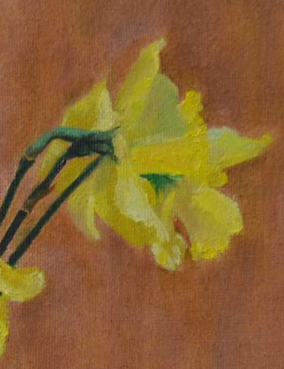 Ivan Ormanzhi. Original still life painting oil on canvas, Daffodils - photo 3
