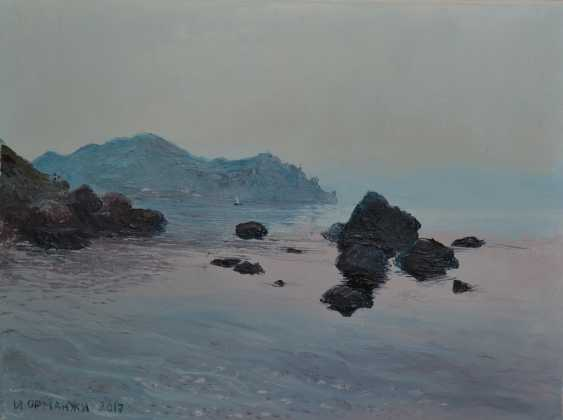 Ivan Ormanzhi. Original landscape painting oil on canvas, Crimea, Karadag - photo 1